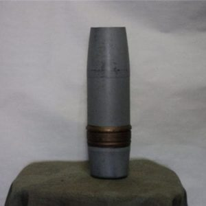 3 inch x 50 inert bondo'd and painted projectile. (not recommended for shooting)