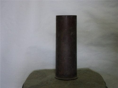 3 inch Mark 5 Mod 0 unfired brass case, not polished, no primer 6-49 (9,5 inches long)