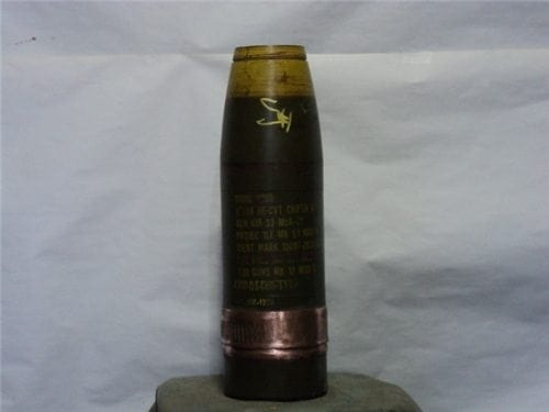 5″ Mark 51 Mod 0 inert HE-CRT projectile, unfired, no fuse