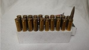 7mm short ammo. 20 round box.