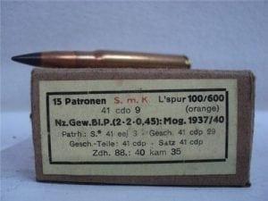 8mm APT ammo. in 15 round german packs.