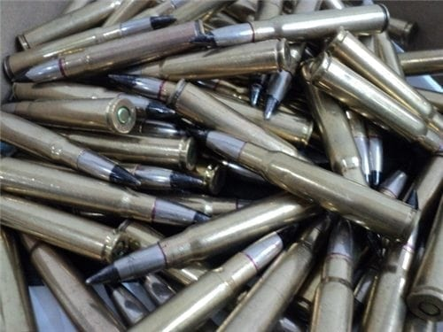 8mm Mauser black tip tracer ammo. (will not trace) 100 round bag.
