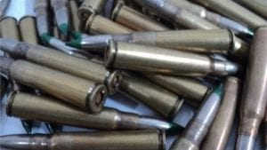 8MM Mauser green tip ammo (unknown of specification). 100 round bag.