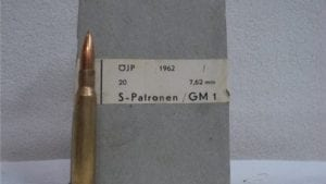8MM Mauser German ammo in 20 round box.