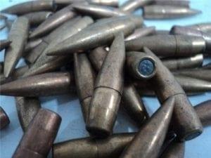 8MM Mauser .318 diameter boat tail 198 grain ball bullet, 100 bullet pack.