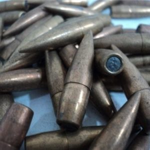8MM Mauser .318 diameter boat tail 198 grain ball bullet, 100 bullet pack.