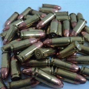 9MM Luger brass case dummy rounds. 50 round bag.