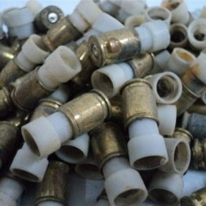 9MM Luger fired plastic blank training rounds. Bag of 100 rounds.