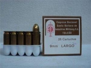 9MM Largo ammo, Tetri Nox manufacture, Non corrosive, Berdan Primed. 25 round box.