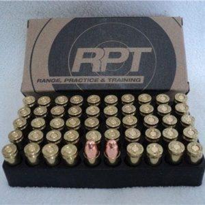 9mm Luger 115 Grain Round Nose, Re-Manufactured. 50 round box. 1050 FPS.