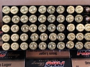 1000 Rounds of 9mm Ammo by PMC – 115gr FMJ