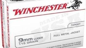 Winchester USA Full Metal Jacket 9mm 100-round 115-Grain Handgun Ammunition