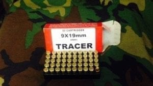 9MM GREEN Tracer Mfg. by Piney Mountain. 50 round box