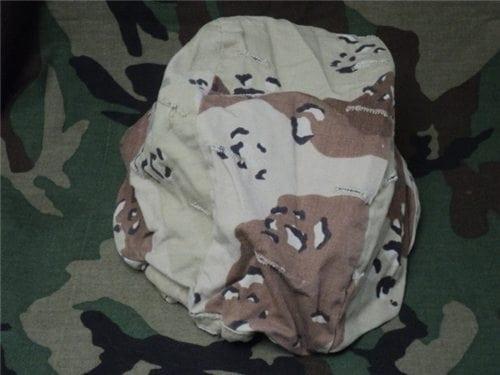Desert camo helmet cover