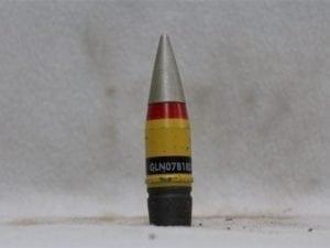 20mm Vulcan Inert SAPHE (semi-armor pierceing high explosive) proj. w/screw in nose fuse, Price Each