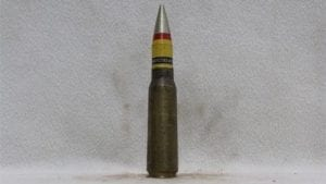 20mm Vulcan dummy round with fired brass case and SAPHE projectile, Price Each
