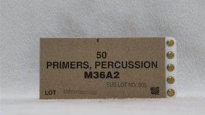 20mm Vulcan (also fits 30mm Vulcan) CCI mfg., percussion primers, M-36A2, box of 50