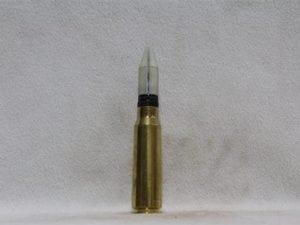 20mm Phalynx- fired brass case, white sabot dummy round, Price Each