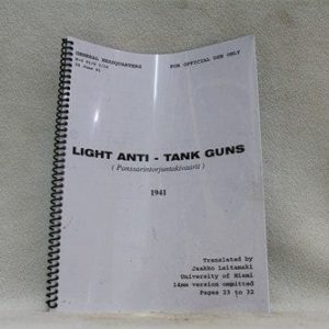 20mm Lahti anti tank gun manual, Price Each
