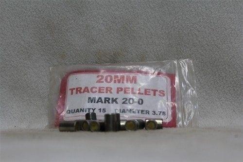 20mm tracer pellets, Mark 20-0, .375 diameter, pack of 15