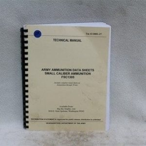 Army ammunition data sheets- technical manual through 30mm. Price Each