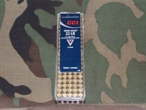CCI 0030 Select Mini-Mag 22LR Copper-Plated Round Nose 40GR 100 Round box.