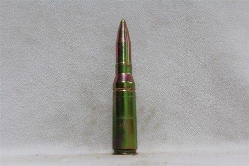 25mm Bushmaster original solid steel dummy round, annodized, Price Each
