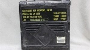 25mm Bushmaster plastic ammo boxes, Price Each