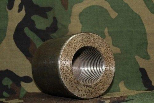 30mm Vulcan GAU-8 4 foot barrel chamber end cap, Price Each