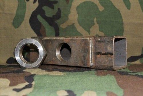 30mm Vulcan GAU-8 muzzle brake for cut 4 foot or full length barrel with locknut, Price Each
