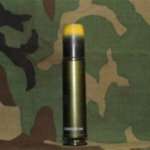 30mm Aden/Deffa dummy rd. w/ new case and black/yellow projectile, no fuse, Price Each