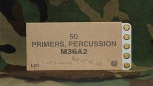 30mm percussion primers, pack of 50