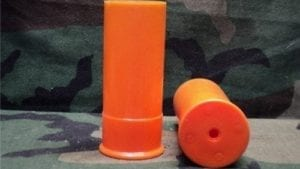 37mm New orange plastic case unprimed