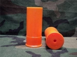 37mm New orange plastic case unprimed