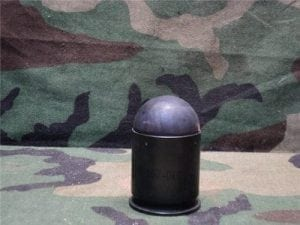M79/203 Inert high explosive metal case dummy round with ball type inert projectile.