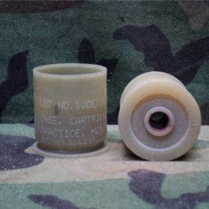 40 mm Unfired, unprimed plastic case, some marked practice m-212.