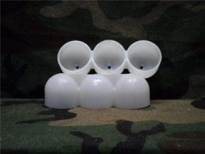 40 mm Shallow plastic three round shell protector.