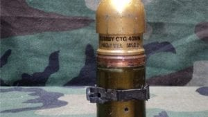 40mm Mark 19 Dummy round, holes in case