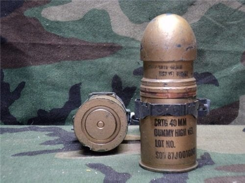 40mm Mark 19 Dummy round with realistic primer