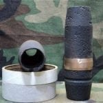 40mm L-70 Bofors projectile, open base,open top no fuse