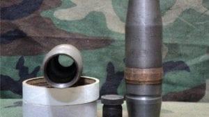40mm L-60 Bofors projectile, open base,open top removable base