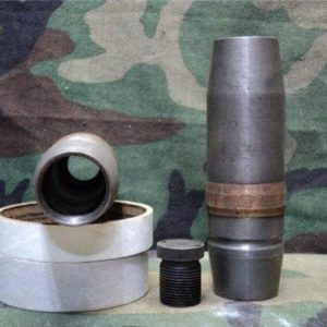 40mm L-60 Bofors projectile, open base,open top removable base