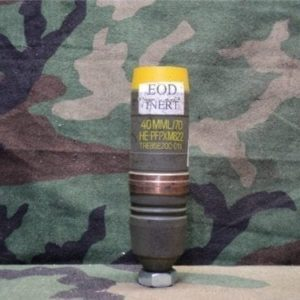 40mm L-70 Inert green/yellow projectile