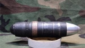 40mm L-70 black projectile