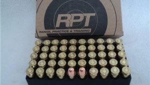 45 Auto 230 grain RN, Re-manufactured ammo. 800 FPS. 50 round box.
