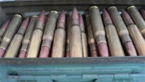 50 cal ball ammo Talon reloads. 150 round can, With this you get one 50 caliber side latch ammo can.
