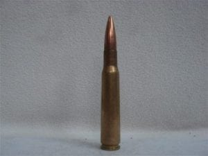 50 cal brass case ball dummy round. Price is for one dummy round.