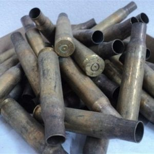 50 cal u.s fired brass case. Dirty. 100 case pack.