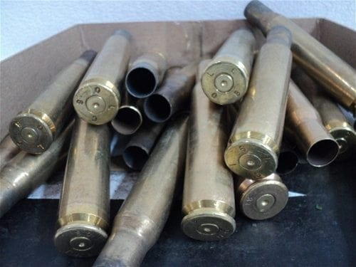 50 cal twice fired brass. 40 case pack.