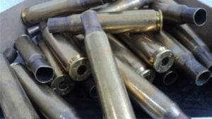 50 cal brass case. Resized, Deprimed, cleaned and trimmed. 100 case pack.